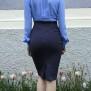 skirt Mary navy dots