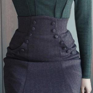 skirt Alexandra dark Mauve