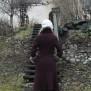coat Elsa dark burgundi red