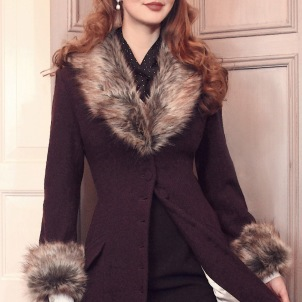 coat Elsa dark burgundi red