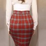 skirt Mary red check