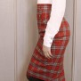 skirt Mary red check - 44