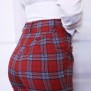 pants jackie red checkered - 44