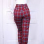 pants jackie red checkered