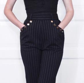 pants Jackie black pinstripe - 34