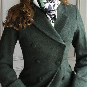 coat Ester forest green