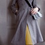 coat Ester dark blue
