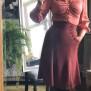 skirt Alexandra dark dusty rouge