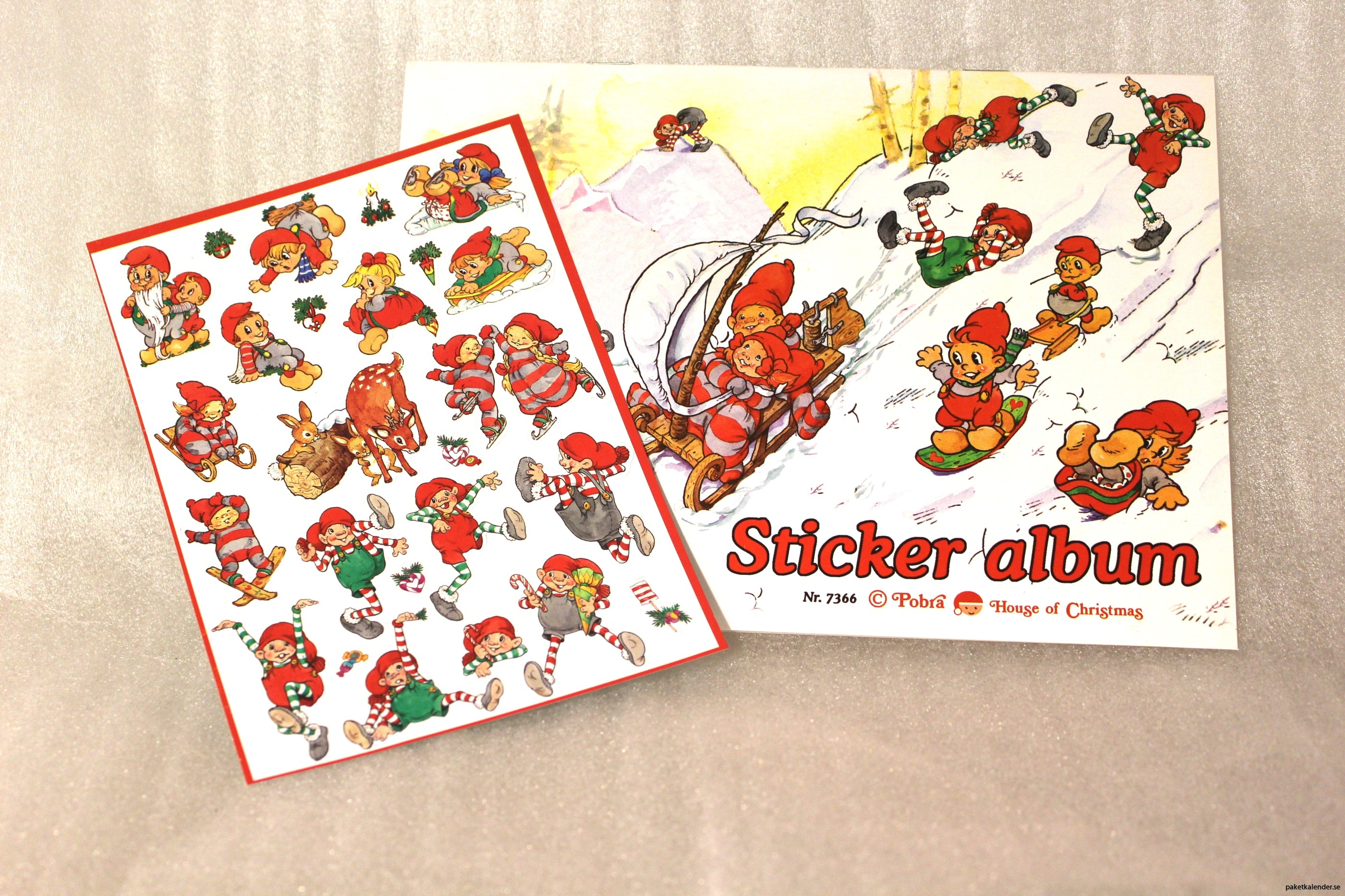 Stickers med stickersalbum