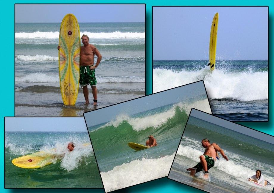 Surfkungen på Legian Beach