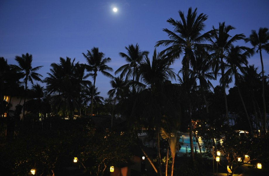 Utsikt från balkongen Sanur Beach Hotel