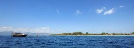 Snorkelbåt vid Gili Air