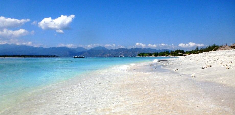 Gili Trawangan med Lombok i bakgrunden