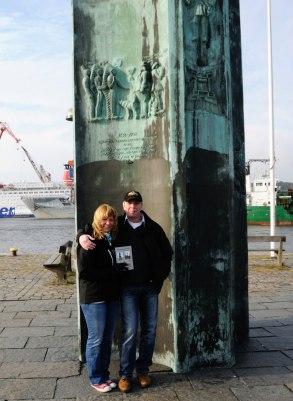 Vandringen startade vid Delaware monumentet