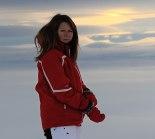 Carina nästan på toppen av Åreskutan