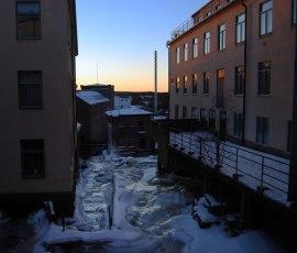 Kvarnfallet en vinterdag Mölndal