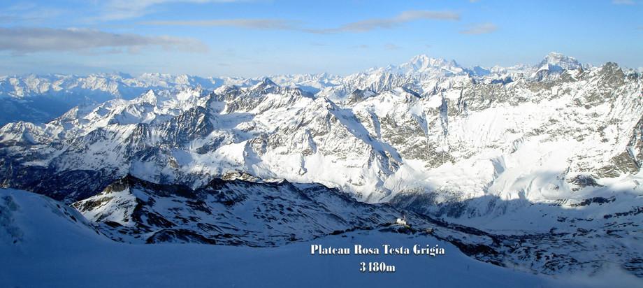 Sett från Klein Matterhorn 3883 meter