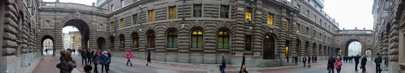 Ingång till Riksdagshuset