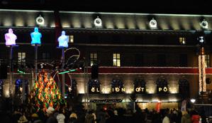 Drottningtorget sjungande julgranen