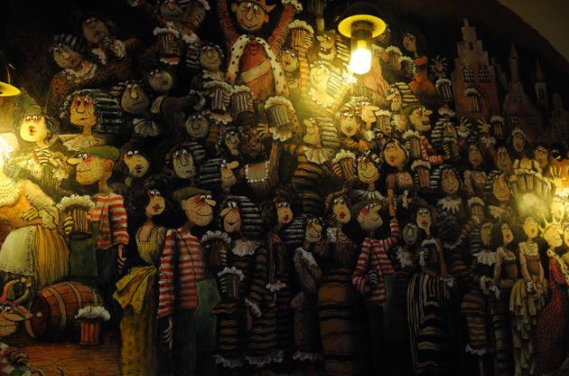 väggmålning på en pub