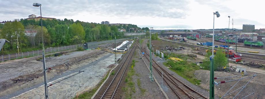 riktning mot Olskroken 10 maj 2014