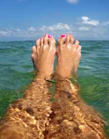 fota mina fötter...