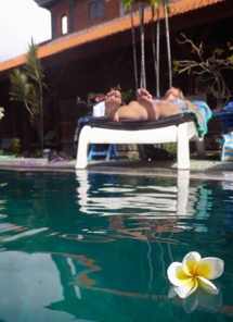 blomsterprakt i poolen...