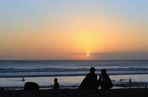 förälskat par i solnedgången...