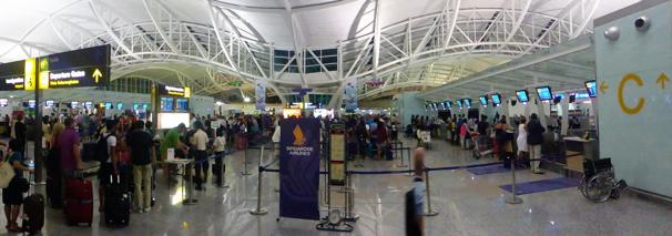 incheckning Bali flygplats...