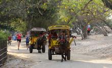 taxi på Gili Trawangan...