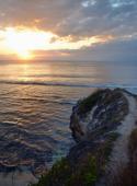 Vilma fotar solnedgången...