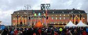 den sjungande julgranen på Drottningtorget...