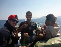mina vänner på båten...