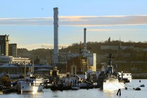 SS Marieholm, Göteborgs marina museum, Göteborgs Energi och Masthugget till höger