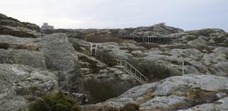 Marstarnds fästning skymtar till vänster i bild till höger första utsikten...