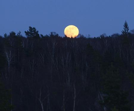 månen reser sig över Goatback mountain...