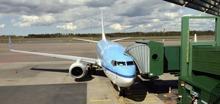 vårat flygplan snart startklart på Landvetter...