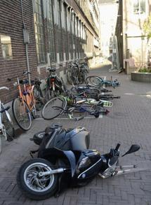 varför välte du alla cyklar... för att jag kunde...