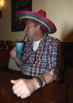 mexikansk restaurang vid båten...
