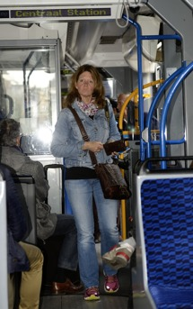 i Amsterdam åker man spårvagn såklart...
