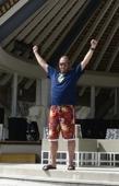 segrare i Open Ambre Beach tennis mästerskapen...
