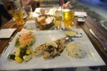 fantastisk mat, jag äter fisk...