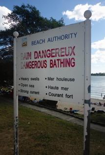 vaa... är det farligt att bada...