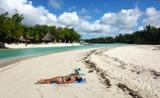 en pingla på stranden...