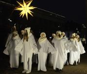 änglarna förebådar Kristus ankomst till jorden...