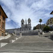spanska trappan, vilket jobb det var att få bort alla turister...