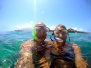 fin snorkling...