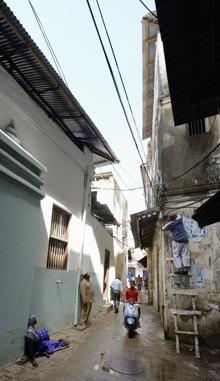 så här ser gatorna ut i Stone Town...