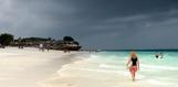 blandljus över stranden...