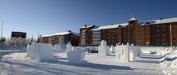 snö skulpturer i Boden...